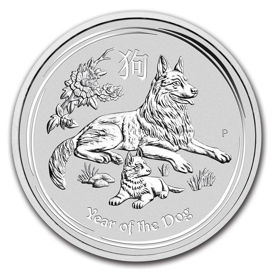 2018 Australia 10 kilo Silver Lunar Dog BU