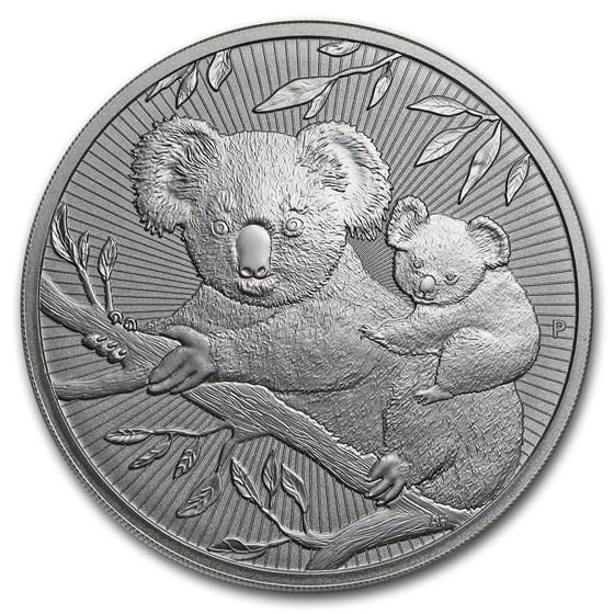 2018 Australia 10 oz Silver Koala BU (Piedfort)