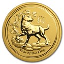 2018 Australia 2 oz Gold Lunar Dog BU