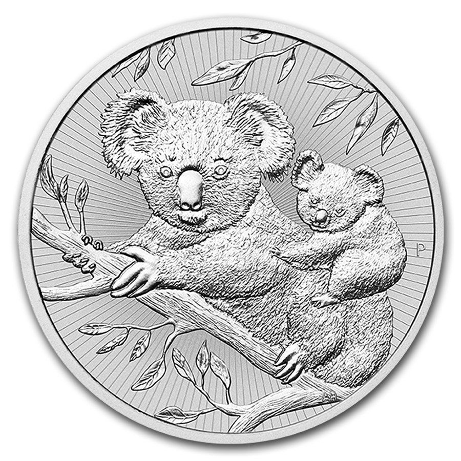 2018 Australia 2 oz Silver Koala BU (Piedfort)