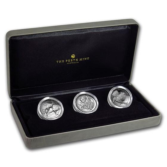 2018 Australia 3-Coin 1 oz Silver High Relief Proof Set