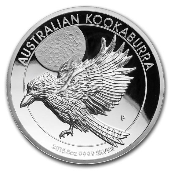 2018 Australia 5 oz Silver Kookaburra Proof (High Relief)
