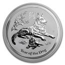 2018 Australia 5 oz Silver Lunar Dog BU