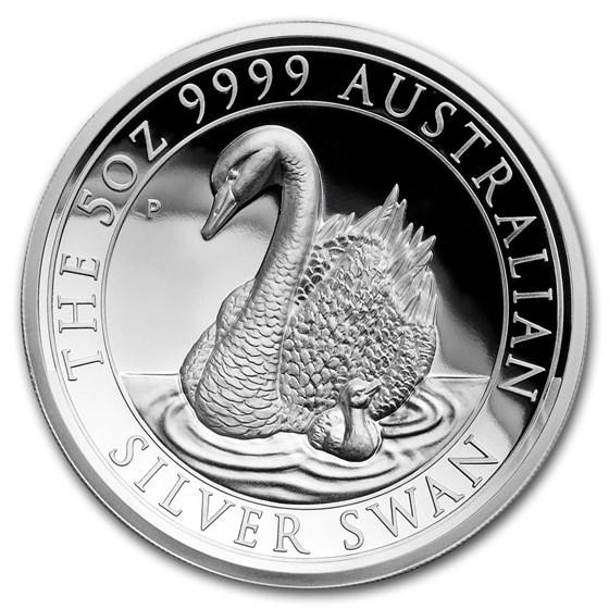 2018 Australia 5 oz Silver Swan Proof (High Relief, w/Box & COA)