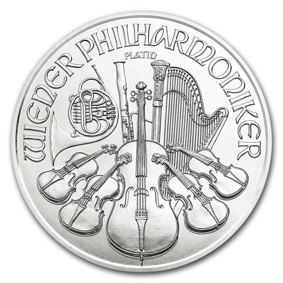 2018 Austria 1/25 oz Platinum Philharmonic BU
