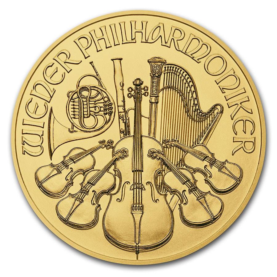 2018 Austria 1/4 oz Gold Philharmonic BU