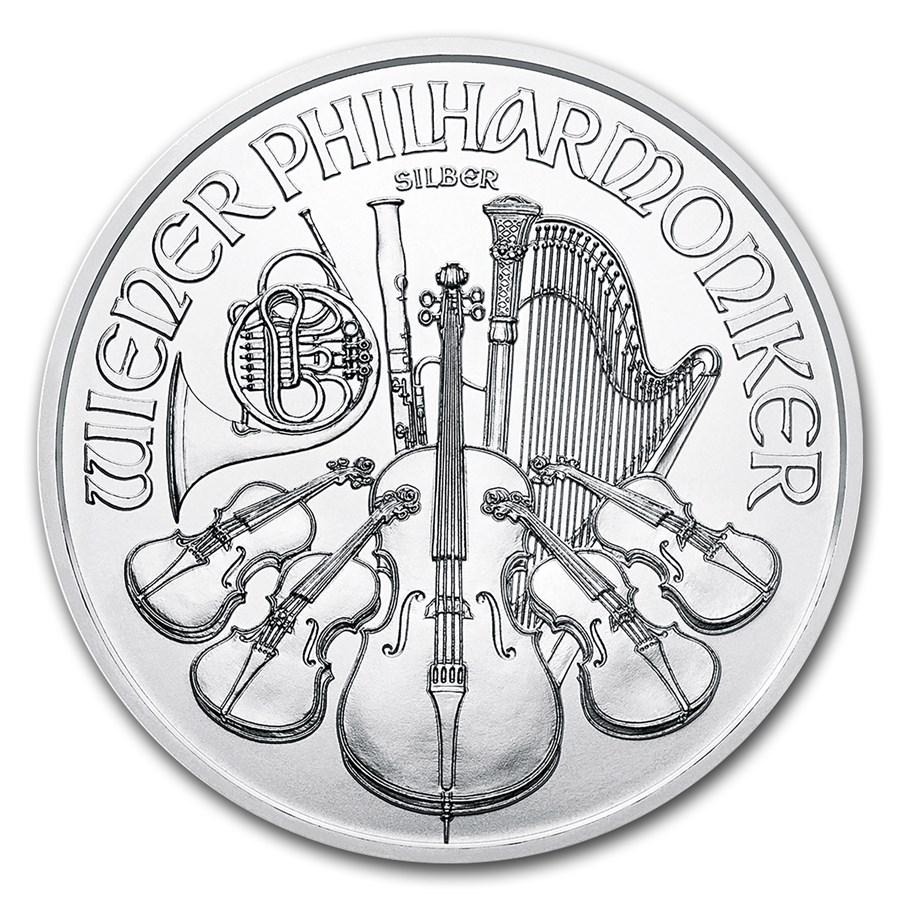 2018 Austria 1 oz Silver Philharmonic BU
