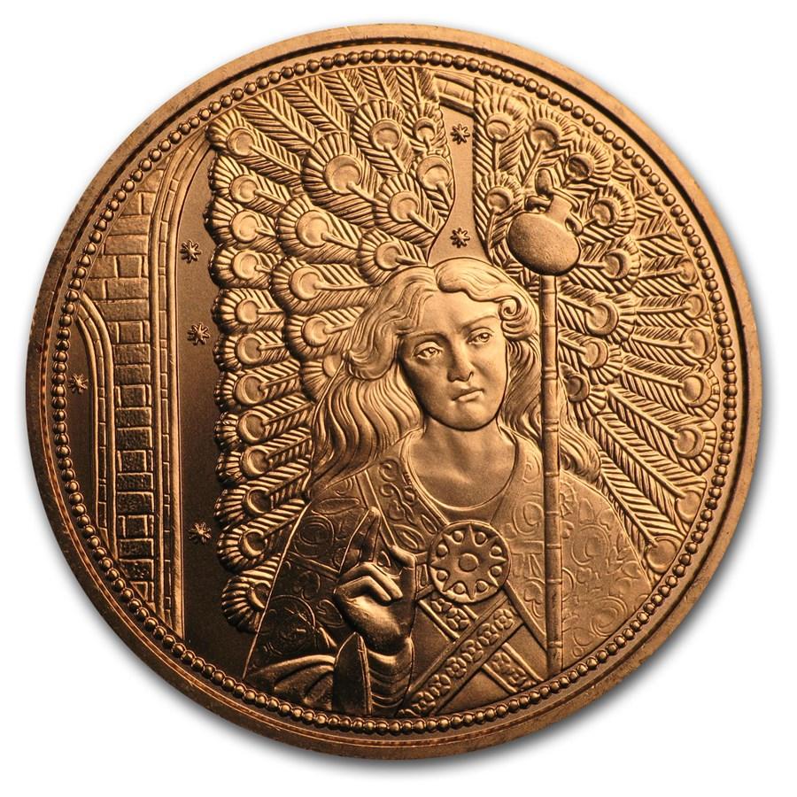 2018 Austria Copper €10 Guardian Angels (Raphael)