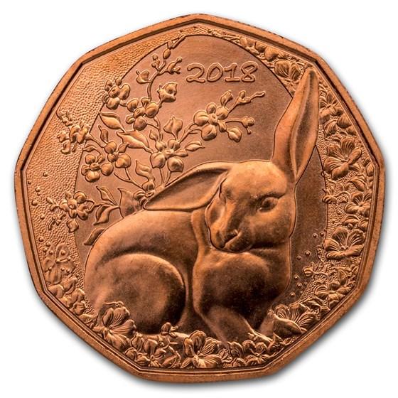 2018 Austria Copper €5 Easter Bunny