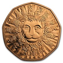2018 Austria Copper €5 New Year's A Lion in the Winter