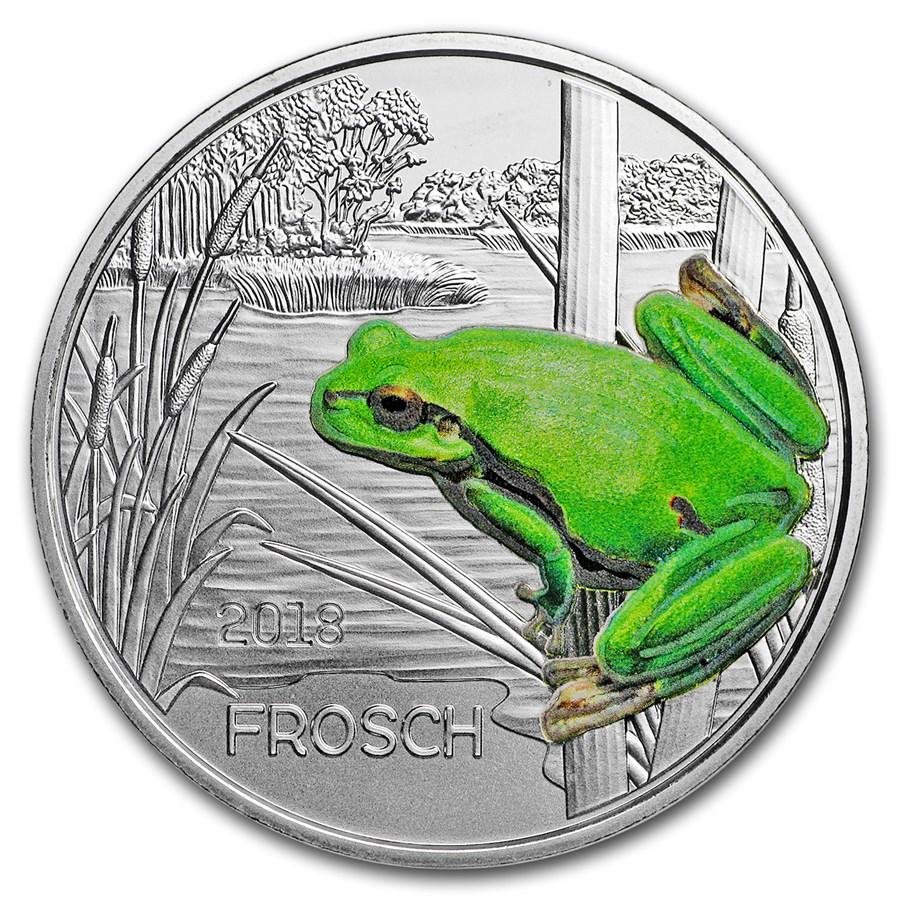 2018 Austria Cupro-Nickel €3 Colorful Creatures (The Frog)