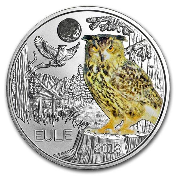 2018 Austria Cupro-Nickel €3 Colorful Creatures (The Owl)
