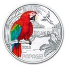 2018 Austria Cupro-Nickel €3 Colorful Creatures (The Parrot)