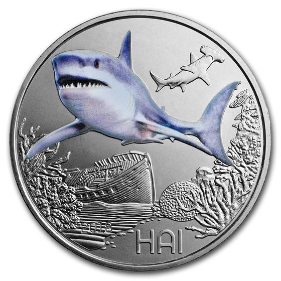 2018 Austria Cupro-Nickel €3 Colorful Creatures (The Shark)