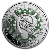 2018 Austria Proof Silver €10 Guardian Angels (Raphael)
