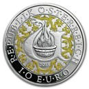2018 Austria Proof Silver €10 Guardian Angels (Uriel)