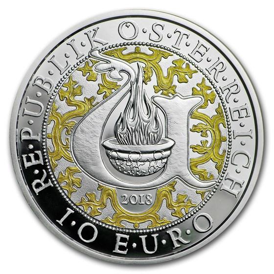 2018 Austria Proof Silver €10 Guardian Angels (Uriel)