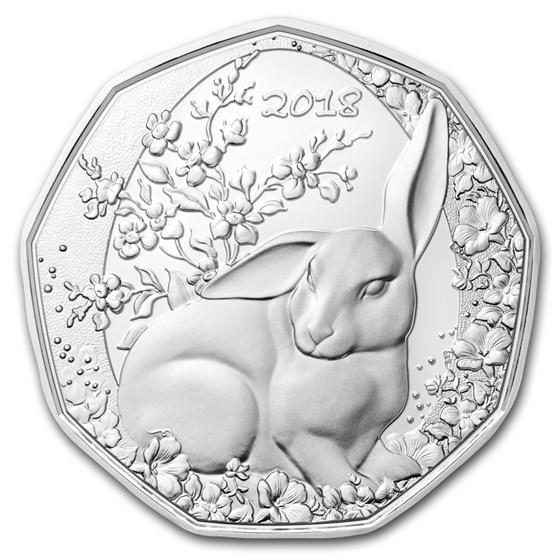 2018 Austria Silver €5 Easter Bunny