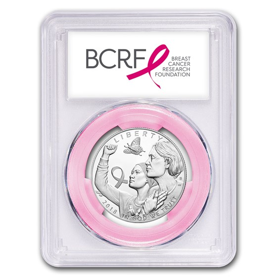 2018 Breast Cancer Awareness Clad Half PR-70 PCGS (FirstStrike®)