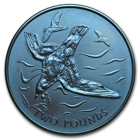 2018 British Virgin Islands 1/3 oz Blue Titanium Blue Petrel