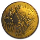 2018 British Virgin Islands Orange Titanium $5 Clownfish