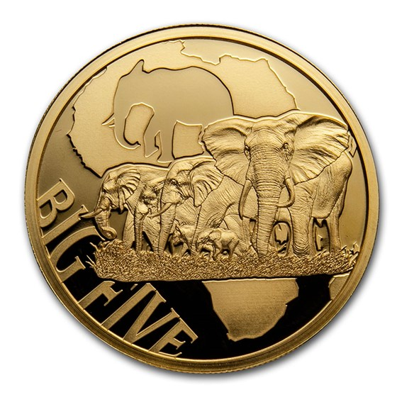 2018 Cameroon 1/2 oz Gold Elephant Proof (The Big Five)
