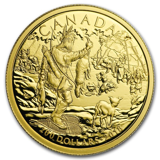 2018 Canada 1/2 oz Gold $200 Early Canadian History First Nations