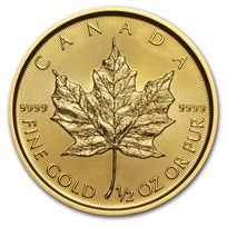 2018 Canada 1/2 oz Gold Maple Leaf BU