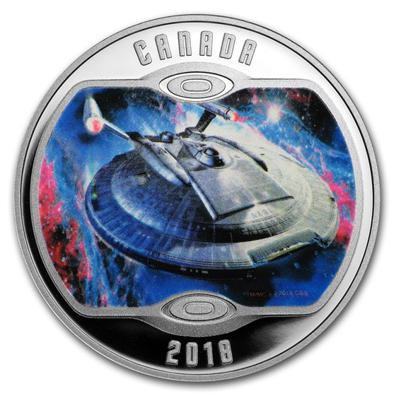 2018 Canada 1/2 oz Silver Proof $10 Star Trek: Enterprise
