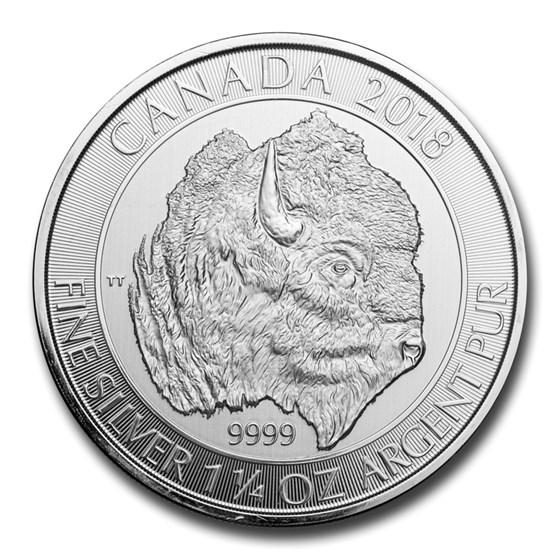 2018 Canada 1.25 oz Silver $8 Bison BU