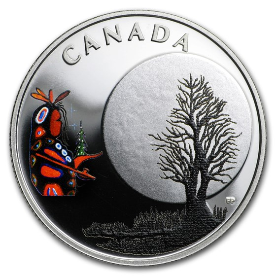 2018 Canada 1/4 oz Ag $3 Thirteen Teachings Little Spirit Moon