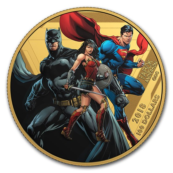 2018 Canada 1/4 oz Pf Gold The Justice League™: United We Stand