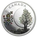 2018 Canada 1/4 oz Silver $3 The Thirteen Teachings Flower Moon