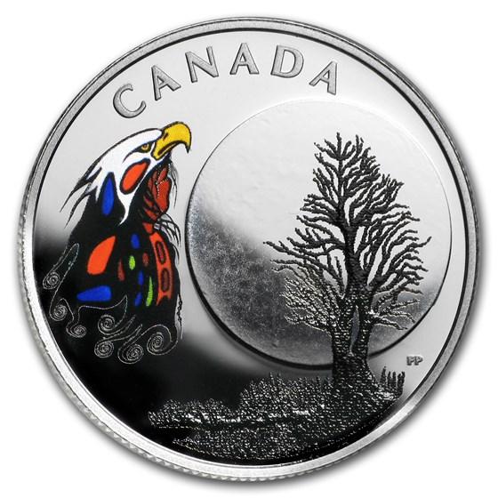2018 Canada 1/4 oz Silver $3 The Thirteen Teachings Spirit Moon