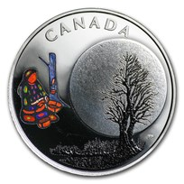 2018 Canada 1/4 oz Silver $3 The Thirteen Teachings Sugar Moon