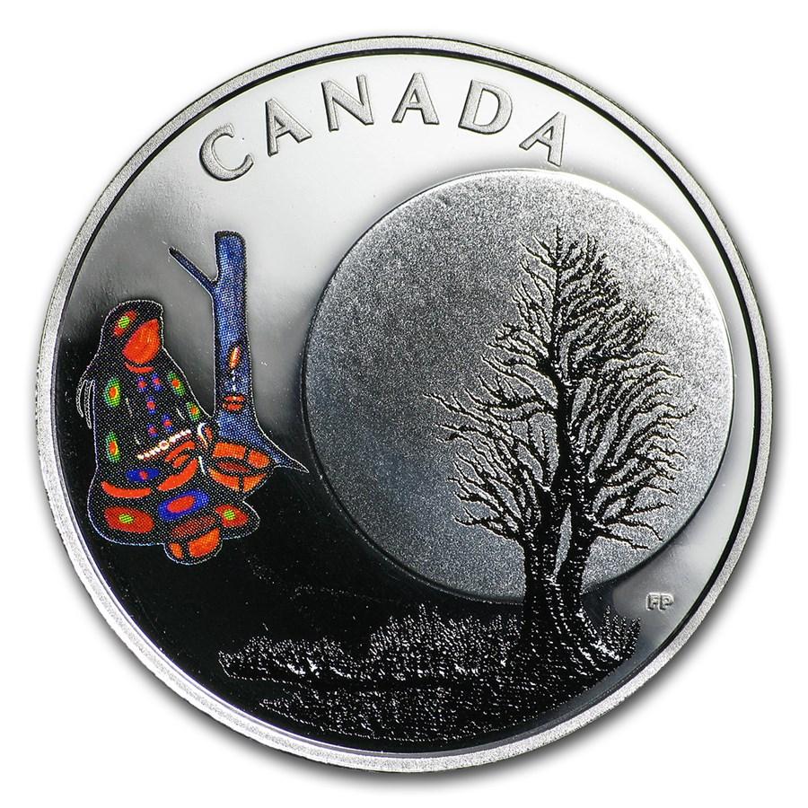 2018 Canada 1/4 oz Silver $3 The Thirteen Teachings Sugar Moon