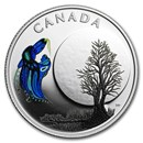 2018 Canada 1/4 oz Silver $3 Thirteen Teachings Big Spirit Moon