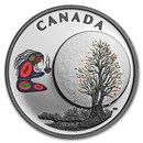 2018 Canada 1/4 oz Silver $3 Thirteen Teachings Falling Leaves