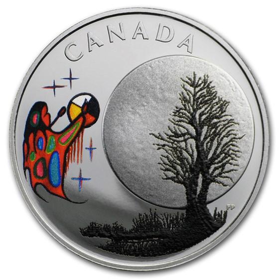 2018 Canada 1/4 oz Silver $3 Thirteen Teachings Freezing Moon