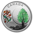 2018 Canada 1/4 oz Silver $3 Thirteen Teachings Thimbleberry Moon