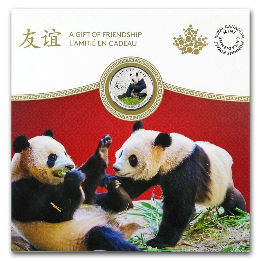 2018 Canada 1/4 oz Silver $8 Peaceful Panda