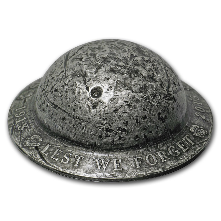 2018 Canada 1.5 oz Silver $25 Lest We Forget Helmet