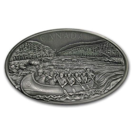 2018 Canada 1 kilo Silver $250 The Voyageurs Concave (UHR)