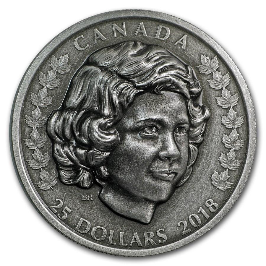 2018 Canada 1 oz Ag $25 Queen Elizabeth II: The Young Princess