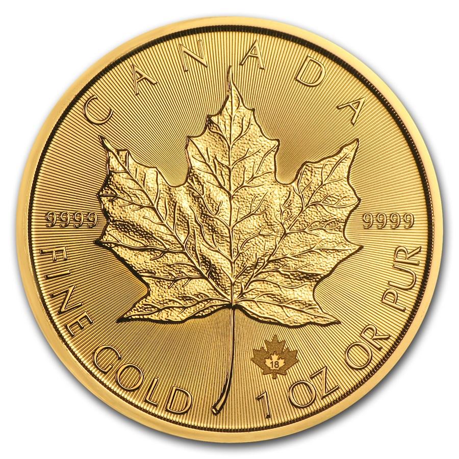 2018 Canada 1 oz Gold Maple Leaf BU