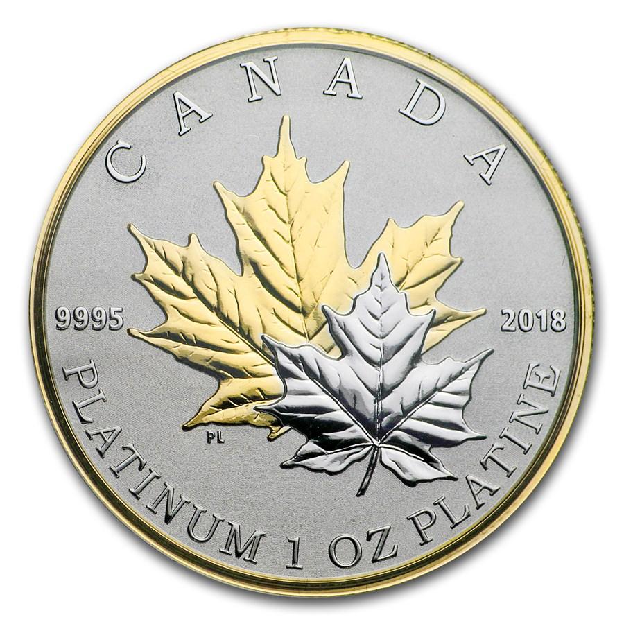 2018 Canada 1 oz Platinum $300 Maple Leaf Forever