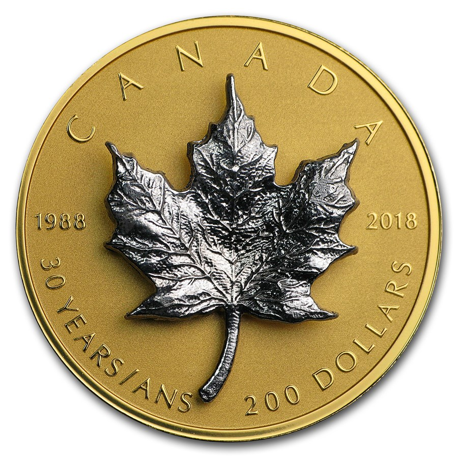 2018 Canada 1 oz Proof Gold $200 30th Anniversary of the SML