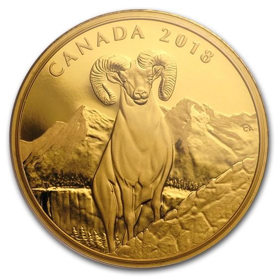 2018 Canada 1 oz Proof Gold $200 Bighorn Sheep