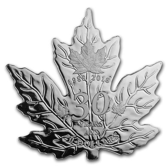 2018 Canada 1 oz Silver $20 30th Anniv of the Silver Maple Leaf
