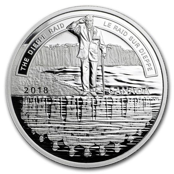 2018 Canada 1 oz Silver $20 A Nation's Mettle: The Dieppe Raid